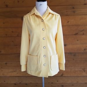 Vintage 60's Yellow Pinstripe Button Front Jacket